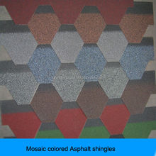 the most professional supplier hexagonal mosaic asphalt shingle