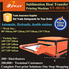 Hydraulic Automatic Large flatbed Double Stations garment printer price