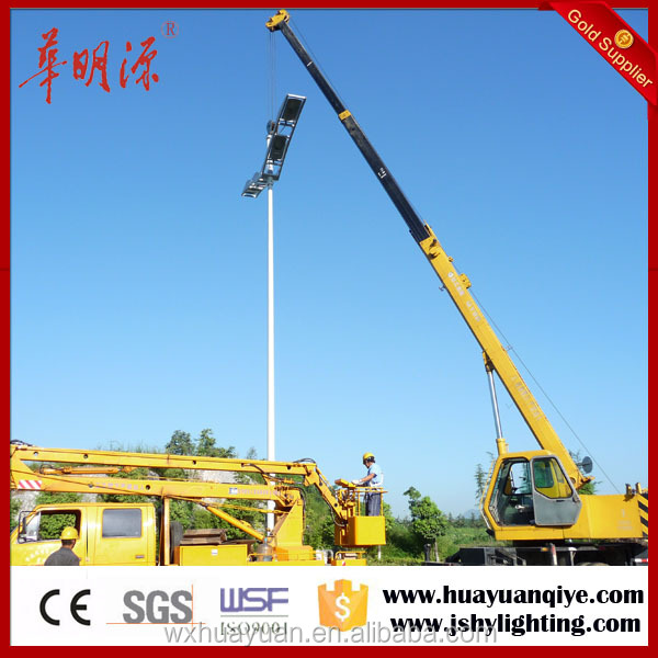4M,5M,6M,8M,9M,10M,11M,12M,15M outdoor galvanized steel lighting electric lamp post street light pole