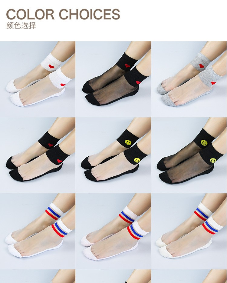 Wholesale fashion socks new design Fashion Sexy Transparent Socks from manufacturer