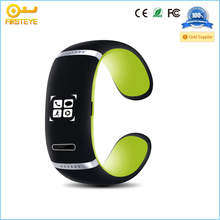 2014 Hot Sale New Arrival L12S OLED Bluetooth V3.0 Stylish Touch Screen Smart Bracelet Blue Black
