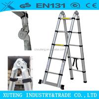 husky agility speed step loft aluminum telescopic ladder