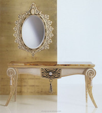 AD5212-Luxury hobby lobby console table classic italian marble console table with mirror