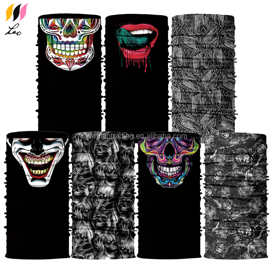 Sports Casual UV Protection Headwear Seamless Tubular Multifunctional Bandana With Neck Gaiter Balaclava Mask Function