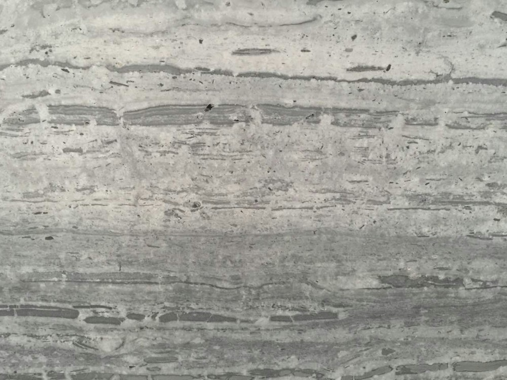 Silver blue wooden marble Silvery blue travertine marble