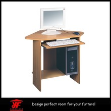 Compact wooden laptop table computer desk