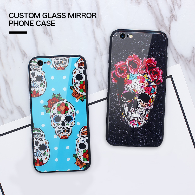 New Product Custom Pattern Glass Mirror Back Cover OEM Wholesale Cell Phone Case For iPhone 7 Mirror Case