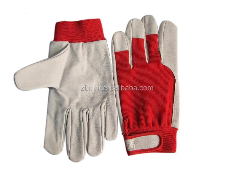 Brand MHR leather working welding gloves reinforced jacquard glove