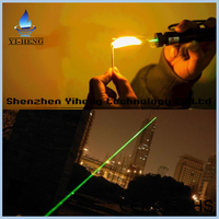 Wholesale 532nm 500mw power focus burning match laser pointer 301 flashlight green laser pointer laser pen