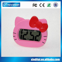 Lovely table free desktop small digital silicone custom clock
