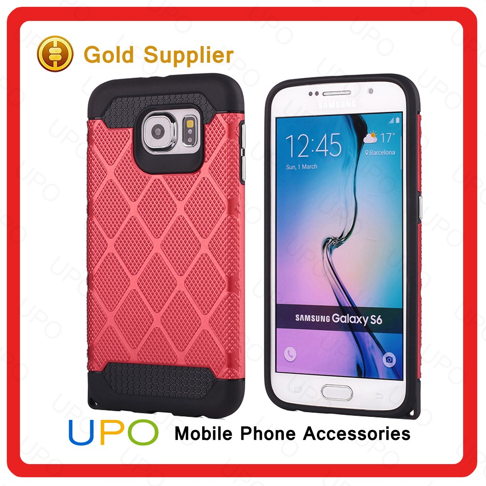 [UPO] Hot Selling Hybrid Combo Shockproof PC+TPU Mobile Phone Case for Samsung S6