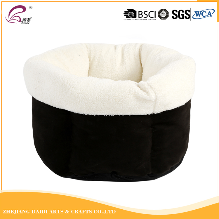 High Quality Big Size Bucket Shaped Plush Warm Pet Dog Bed