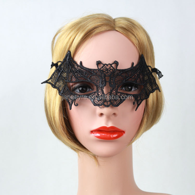 New Design Women Halloween/Chirstmas Party Decorate Lace Bat Animal Mask
