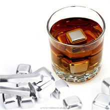 2016 1x1x1inch Stainless Steel Whiskey Stones Ice Cubes Chillers Party