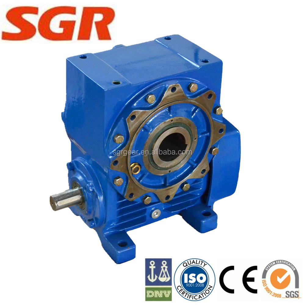 High torque single enveloping worm gearbox for sugar plant
