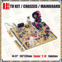 25-29 ic color crt tv main board for sanyo