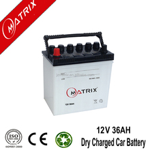 12Volt 36b20 12V 36ah Lead Acid battery type Dry Charged Car starting battery