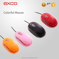 EXCO Cheap Small Colorful Ergonomics optical branded usb mouse with adjustable DPI