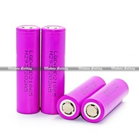 Deep cycle 25A LG HD2 icr18650 2000mah 3.7v rechargeable battery for e-cigs