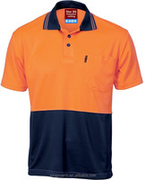High Visibility Orange Two Tone Work Polo Shirt