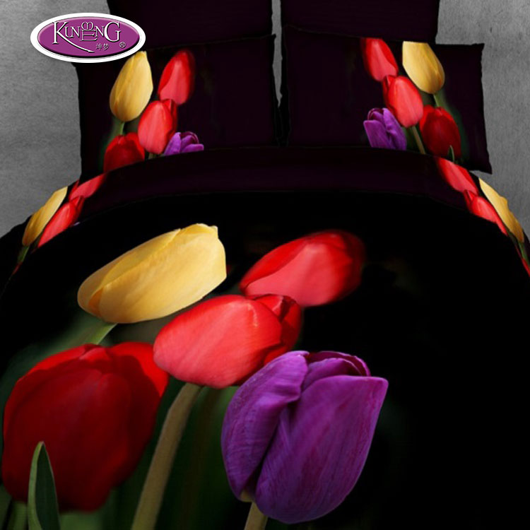 Buy it now Item! Wholesale bedsheets bedding sets reactive printed tulip flower stock lot 3d bed <strong>sheet</strong>