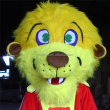HOLA yellow lion mascot costume/cartoon mascot costume for sale