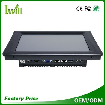 Fanless J1900 touch screen industrial panel pc all in one