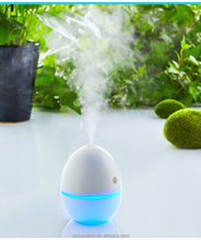 Portable LED Lights Changing Egg Shape Ultrasonic Cool Mist Mini USB Aroma Car Air Humidifier Essential Oil Diffuser