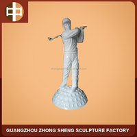 FRP golf player statue for outdoor decorative