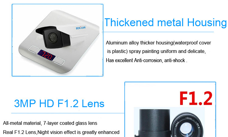 2MP Low lux starlight ip security camera for cctv system