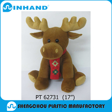 Baby toy lovely animated fluffy stuffed deer plush toy