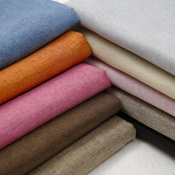 Alibaba china supplier plain woven breathable linen cotton fabric for women garment fabric
