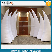 Custom made white inflatable tube , event hall decoration for sale