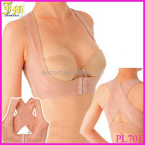 New Breast Bust Push Up Body Shaper Bra Back Support Posture Corrector Band Belt M/L