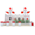 Detian Offer 20x30ft Fashion Style Custom Acrylic Wooden Exhibition Booth