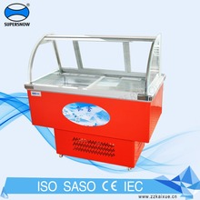 Portable Mini Small Counter Showcase Refrigerator Italian Gelato Popsicle Ice Cream Display Freezer For Used Icecream Case