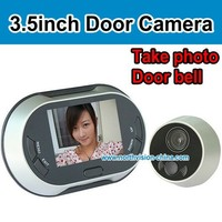 3.5 inch digital peephole viewer with photo taking, sleep model, built-in memory, fits any door
