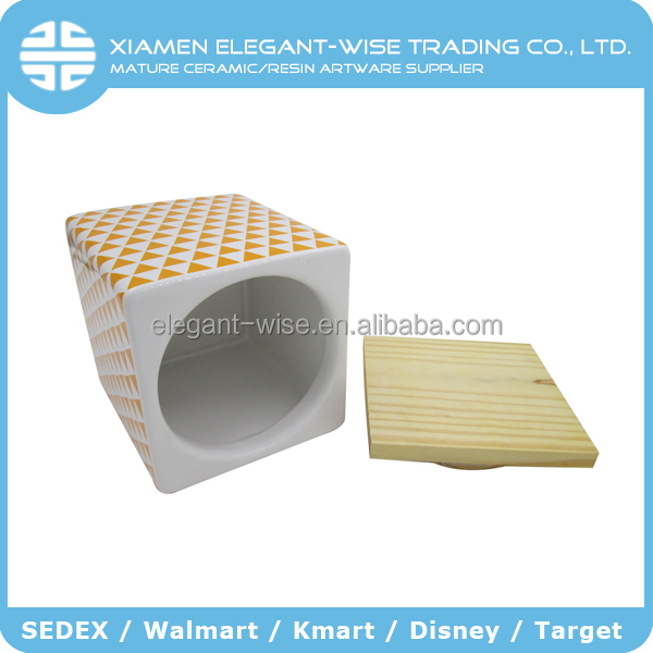 Made in china storage square ceramic canisters wholesale
