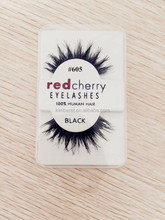 747 Flat Lashes False Lash Red Cherry with Private Label