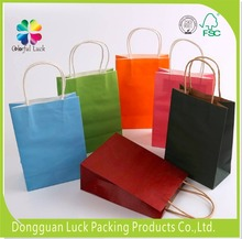Color print white raw materials of recycle kraft paper bag