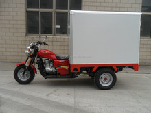 Three Wheel Cargo Motorcycle Tricycle with Closed Box Engine 150cc 200cc 250cc