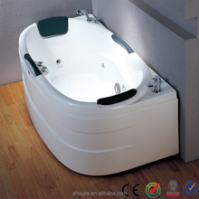 new design glass bath tub, free standing bathtub,massage bathtub