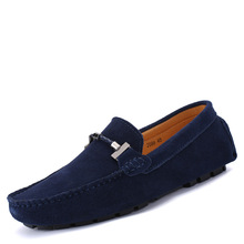 stylish good quality cow suede upper material soft pu lining exquisite stitching comfortable men casual <strong>shoes</strong> and loafers