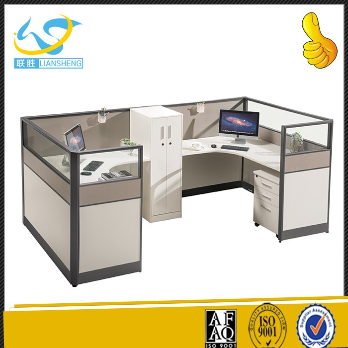 Newest Counter Design Sit Stand Workstation Office Two Sided Cubicle