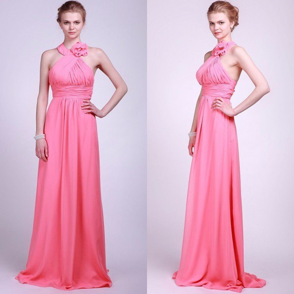Latest Dress Patterns Tall Mother of The Bridesmaid Dress Chiffon Halter Dress for Bridesmaid