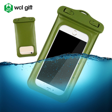 New promotion Item nice lanyard stylish custom PVC TPU floating waterproof cell phone case