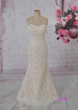 L1128 sweetheart neckline low back ziper with buttons sheath no train floor length wedding dress