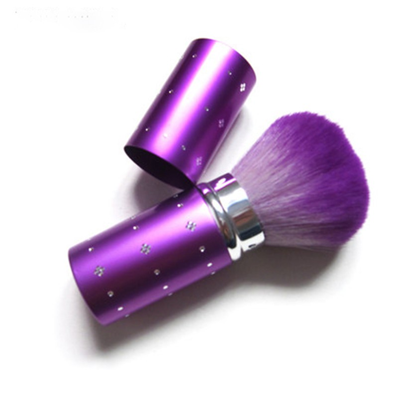 1pcs synthetic hair retractable kabuki brush single diamond powder blush brush
