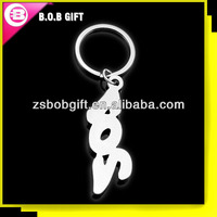 zinc alloy die cast iron stamped letter key ring