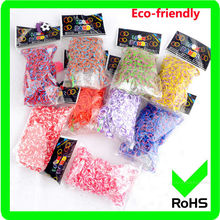 2014 fashion 600 rubber bands diy loom bands kit ,colorful crazy loom bands wholesale for children